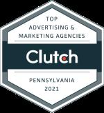 Clutch top advertising agency PA logo
